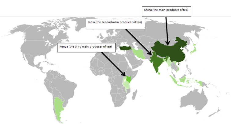 Producers of tea with map tea these two maps and graphs shows the top 7 9 countries that produce tea as mentioned before china is the number 1 country that produces tea followed by gumiabroncs Gallery
